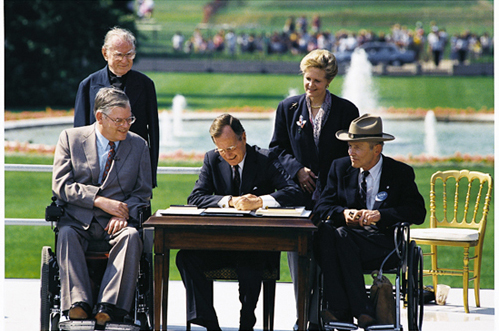 President George H.W. Bush signing the ADA