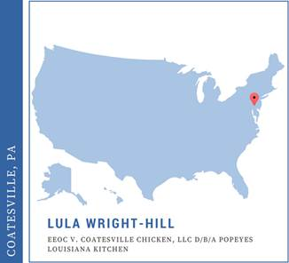 Lula Wright-Hill, EEOC v. Coatesville Chicken, d/b/a Popeyes Louisiana Chicken