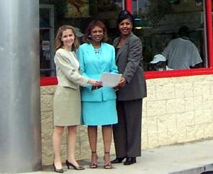 Left to Right: Claudia K. Levitas, General Counsel for Huddle House; Bernice Williams-Kimbrough, Director of EEOC Atlanta District Office; Antiganee Contaste, Human Resources Manager for Huddle Hous