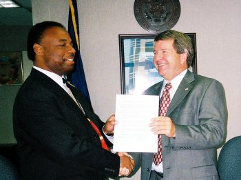 Left to Right: Charlotte District Director Reuben Daniels, Jr. and Randy Hart, Ryan's Vice Presiden