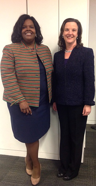 Chair Jacqueline Berrien and Carolyn Lerner, Special Counsel, U.S. Office of Special Counsel, after signing renewed Memorandum of Understanding.