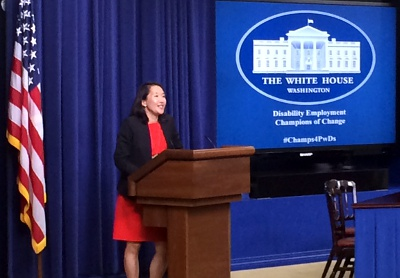 EEOC Chair Yang speaks at the White House Champions of Change event on 10/14/2014