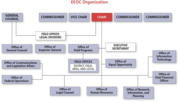 2010 PAR: EEOC Organizational Structure (described in this section)