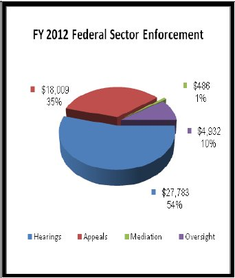 FY 2012 Federal Sector Enforcement - data in preceding table