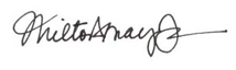 Signature of Milton Mayo, Jr.