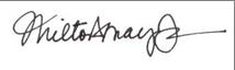 Signature of Milton Mayo, Jr.
