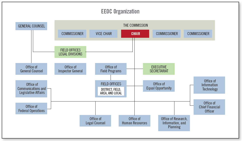 EEOC Organization (described in preceding text)