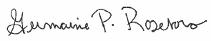 Signature of Germaine P. Roseboro