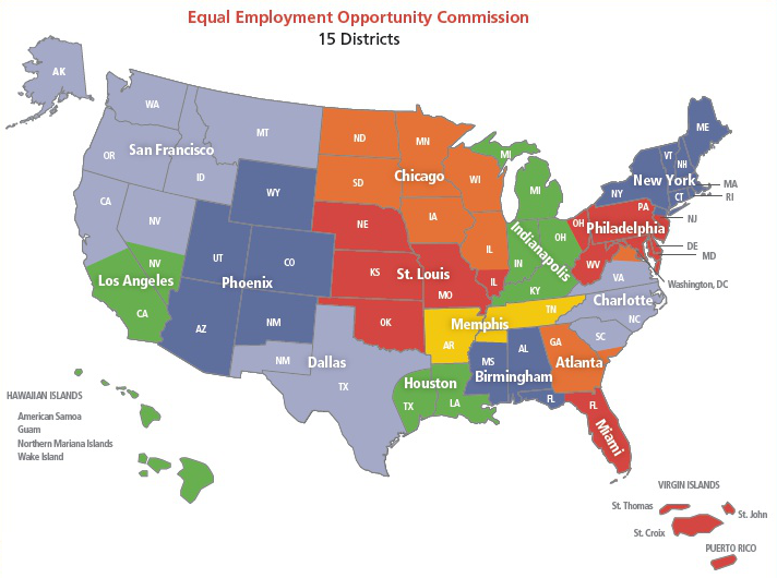 EEOC District Map