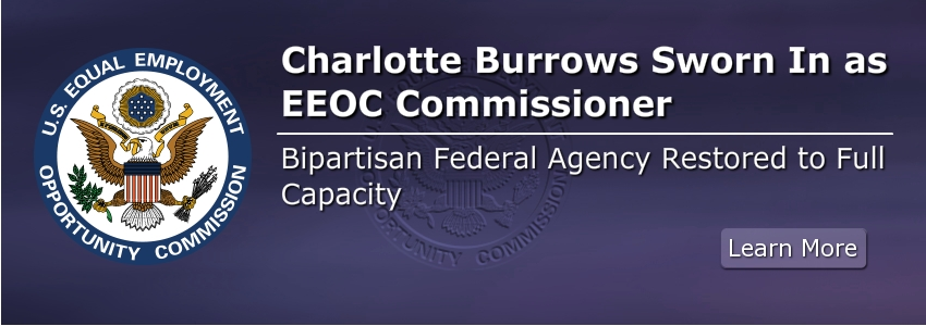 Charlotte Burrows Sworn In as EEOC Commissioner