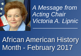 A Message from the Acting Chair - African American History Month 2017