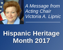A Message from the Acting Chair on Hispanic Heritage Month 2017