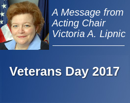 A Message from the Acting Chair: Veterans Day 2017
