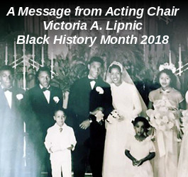 Acting Chair's Message for Black History Month 2018