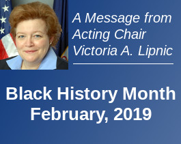 Acting Chair's Message on Black History Month 2019