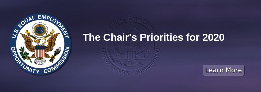The Chair's Priorities for 2020