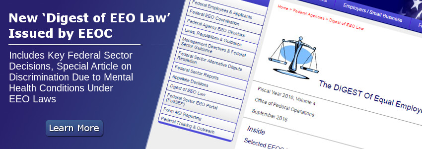 New 'Digest of EEO Law' Issued by EEOC
