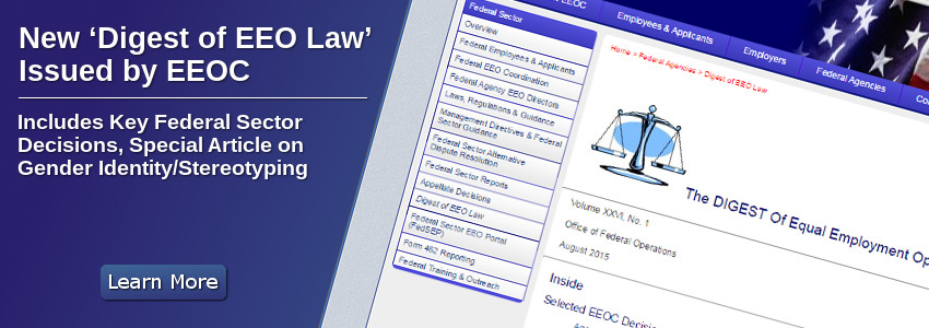 New �Digest of EEO Law� Issued By EEOC