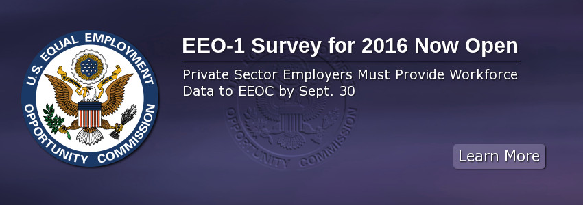 EEO-1 Survey for 2016 Now Open