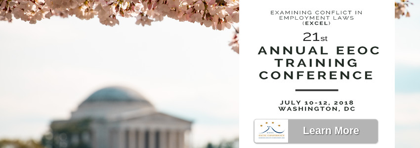 21 Annual EXCEL Training Conference, July 10-12, 2018, Washington, DC