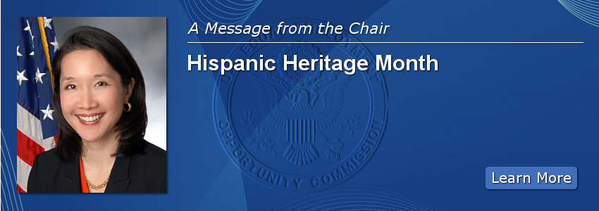 October Message from the Chair: Hispanic Heritage Month
