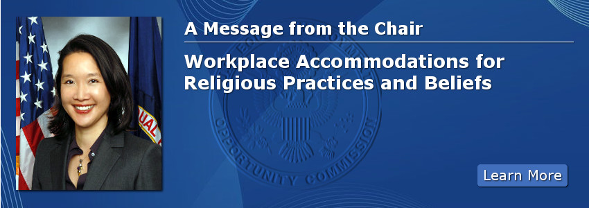 A Message from the Chair: Workplace Accommodations for Religious Practices and Beliefs
