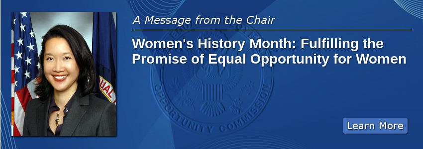 Women's History Month: Fulfilling the Promise of Equal Opportunity for Women