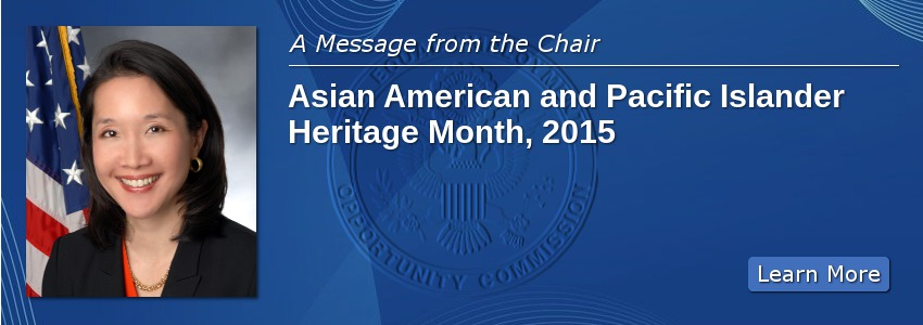 A Message from the Chair: Asian American and Pacific Islander Heritage Month