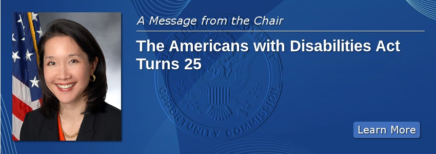 A Message from the Chair: The ADA at 25