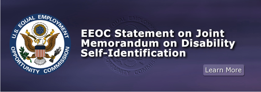 EEOC Statement on Joint Memorandum on Disability Self-Identification