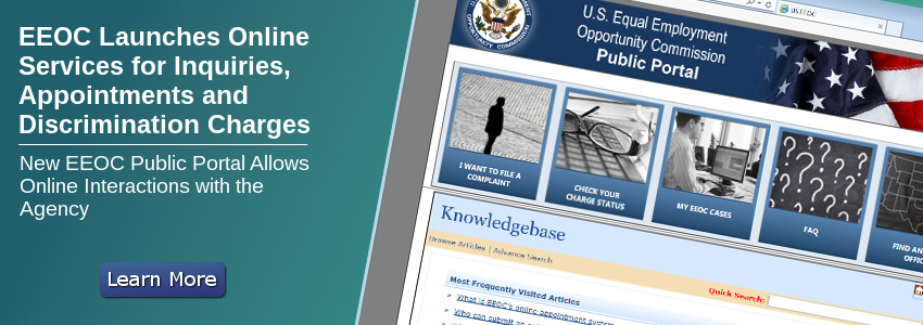 EEOC Launches Online Services for Inquiries, Appointments and Discrimination Charges