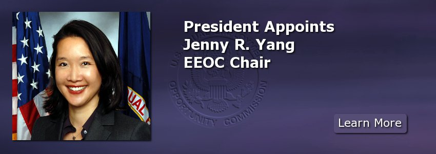 President Appoints Jenny R. Yang EEOC Chair