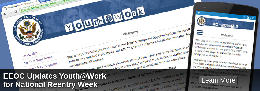 EEOC Updates Youth@Work for National Reentry Week