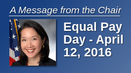 A Message from the Chair: Equal Pay Day - April 12, 2016