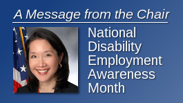 A Message from the Chair: National Disability Employment Awareness Month